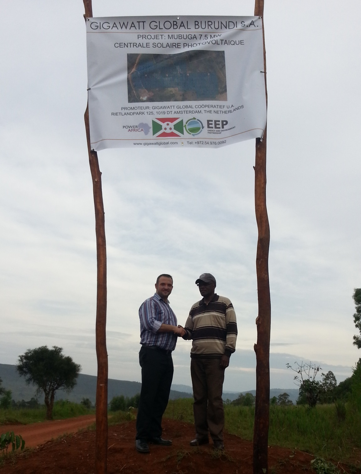 VP of Finance Michael Fichtenberg on site in Burundi with Presidential Advisor the Honorable Jean Jacques Nyenimigabo